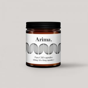 Arima CBD Capsules in Jar